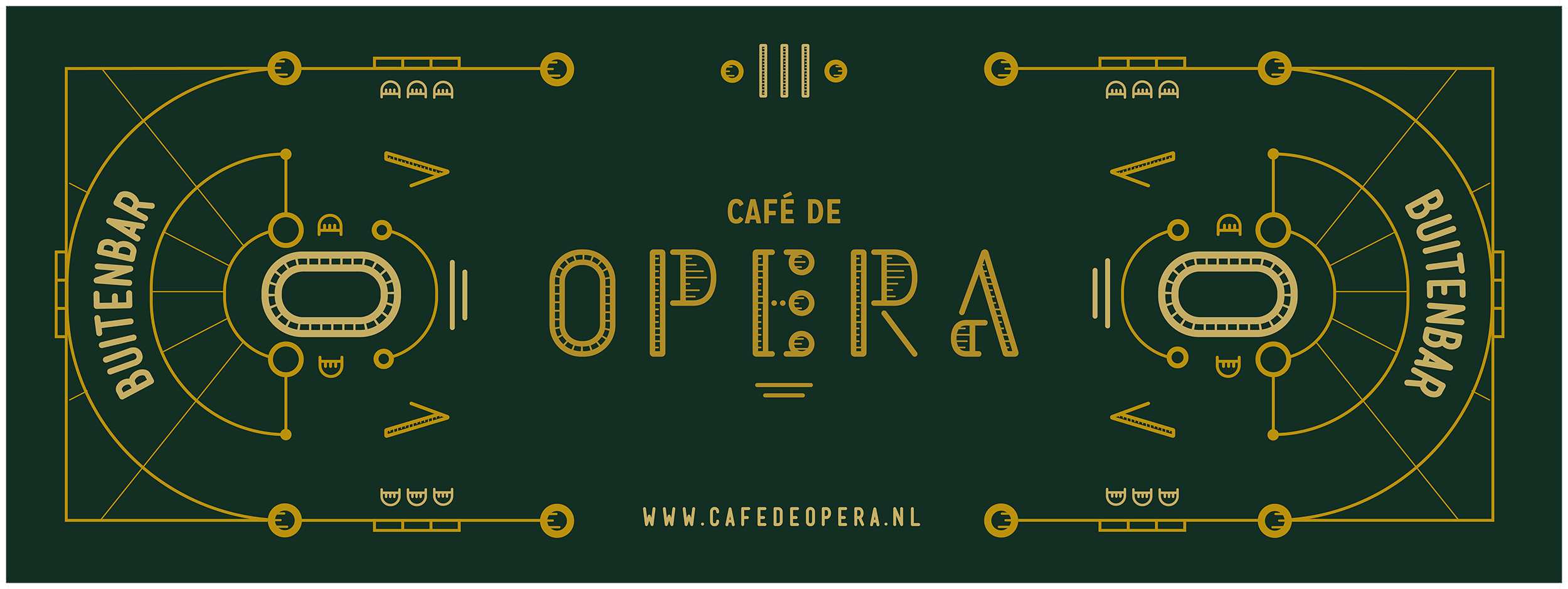 As you were - Café De Opera - Drukwerk, banner