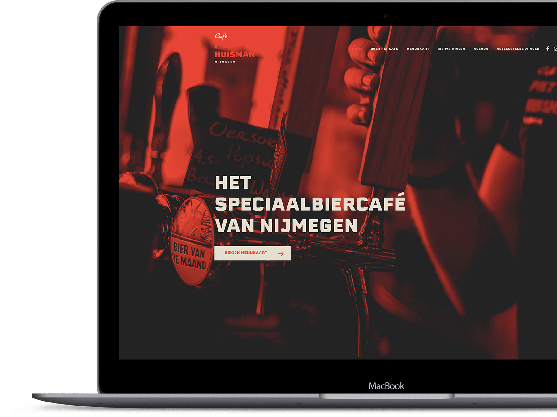 Café Piet Huisman - Website desktop