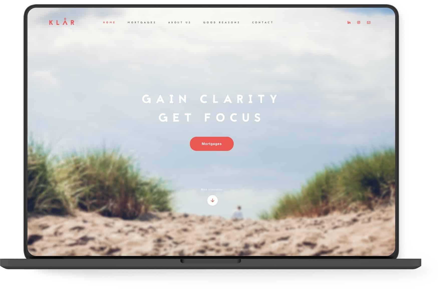 Klår Finance - Desktop slider scherp