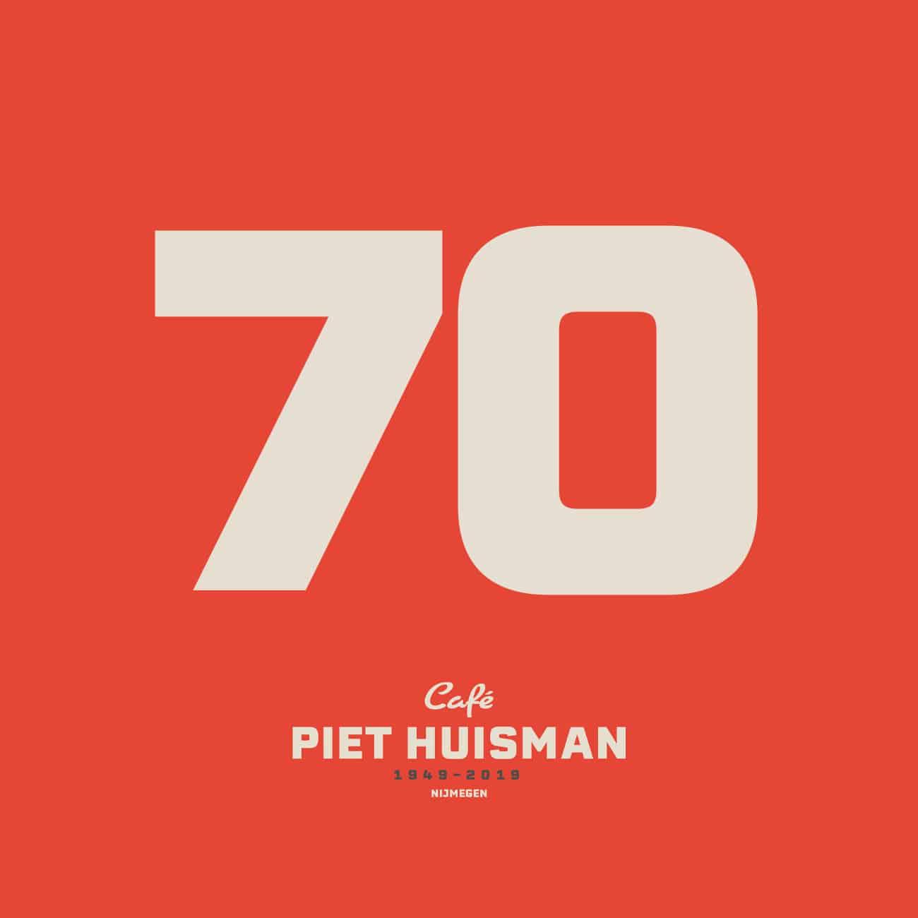 Piet Huisman - Logo 70 jaar